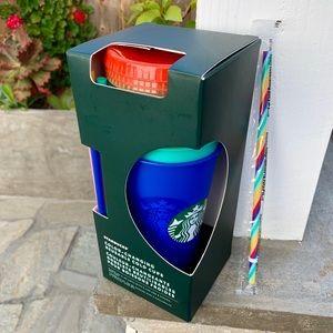 STARBUCKS COLOR CHANGING CUPS NWT W/BONUS STRAW